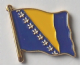 Bosnia Country Flag Enamel Pin Badge